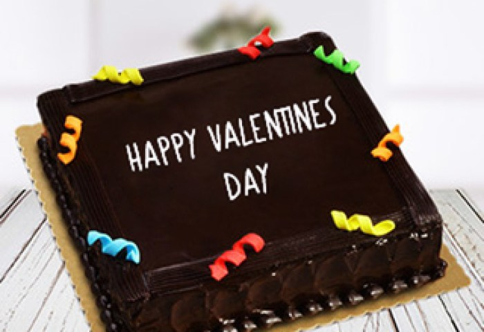 Send Valentine Rich Chocolate Truffle Square Cake Online In India At