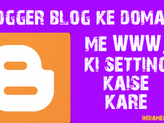 blogger blog ke domain me www. ki setting kaise kare