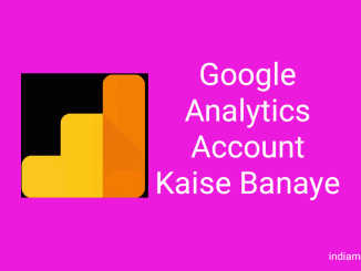 google analytics account kaise banye