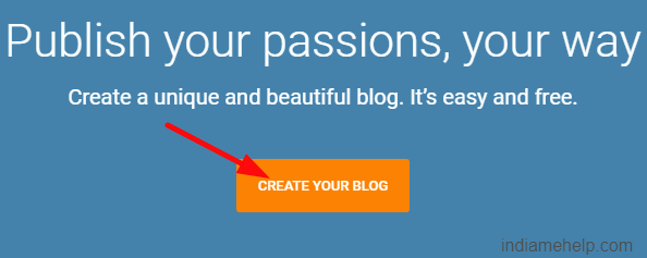 create your blog option