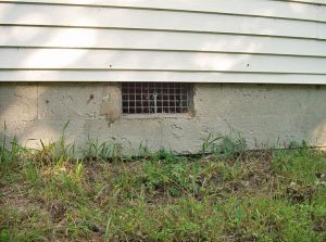 Termites in Indiana: Open vented crawl space