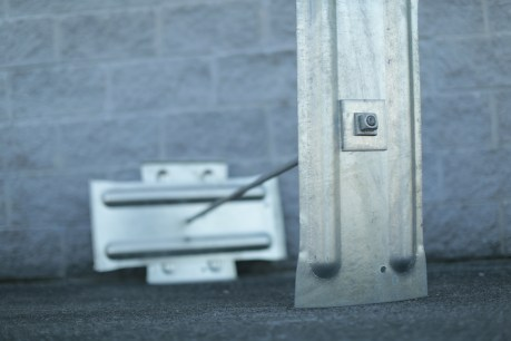Wall Anchor close up shot