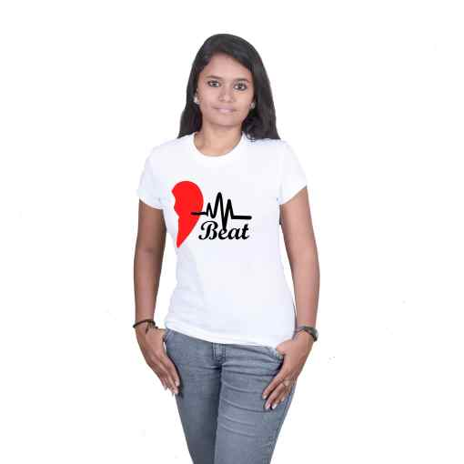 Matching HeartBeat Couple T-Shirts