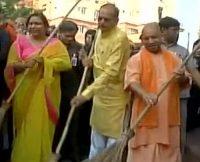 Aditynath wields broom for cleaner Uttar Pradesh-indian bureaucracy