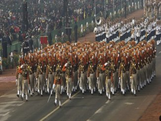 best Republic Day marching contingent 2018 trophy to ITBP DG