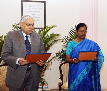 M Sathiyavathy took the oath of office