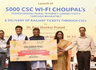 Piyush Goyal launching 5000 CSC WiFi Choupal