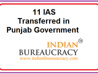 11 IAS transfers in Punjab Govt