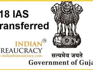 18 AS transferred in Gujarat