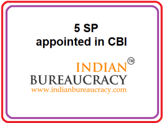 DoPT Appointed 5 SP in CBI
