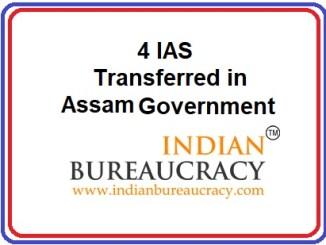 Minor Reshuffle in assam Govt
