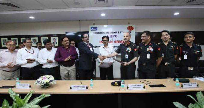 NHPC MoU with Indian Army