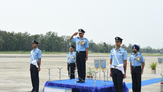 Air Marshal RD Mathur visits Air Force Station Tezpur
