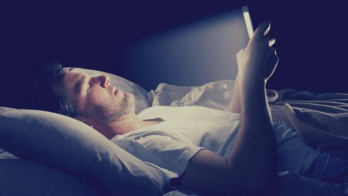 Bluelight emission from your smartphone can lead to a disturbed sleep cycle