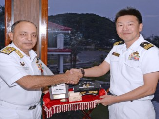 Japanese Maritime Self Defence Ship Visits Kochi
