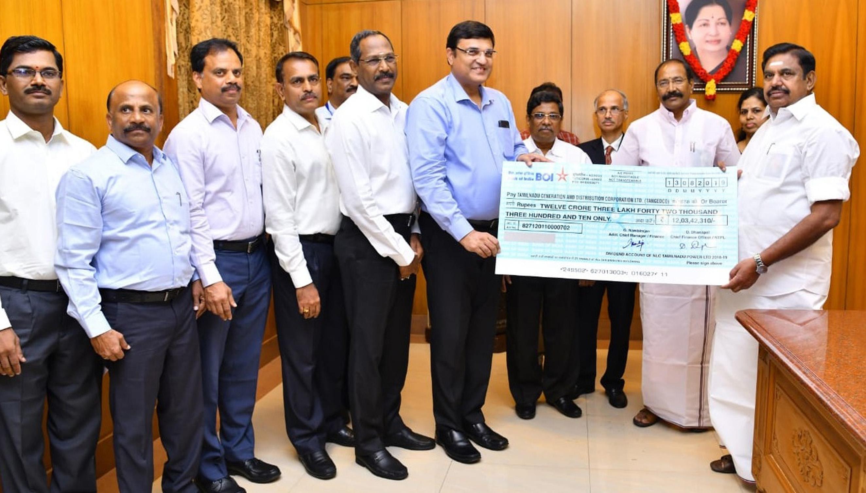 NLC Tamil Nadu Power Ltd pays 12 Crdividend to CM