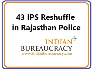 43 IPS Reshuffle in Rajasthan Police