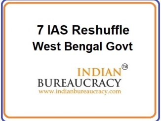 7 IAS Reshuffle in West Bengal Govt
