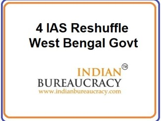 4 IAS Reshuffle in We4 IAS Reshuffle in West Bengal Govtst Bengal Govt