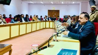 MoS DoNER Dr Jitendra Singh interacts with North Eastern students