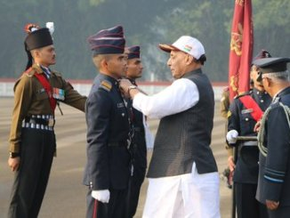 Raksha Mantri Shri Rajnath Singh reviews Passing Out Parade of 137th course at National Defence Academy in Pune