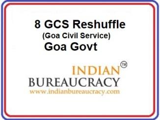 8 GCS Transfers in Goa Govt