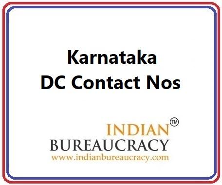 Karnataka DC Contact Nos