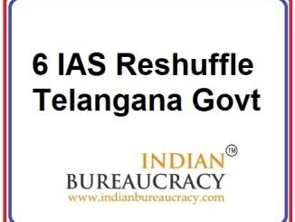 6 IAS Transfer in Telangana Govt