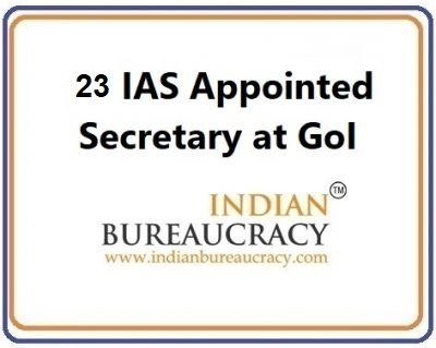 23 secretary appointments