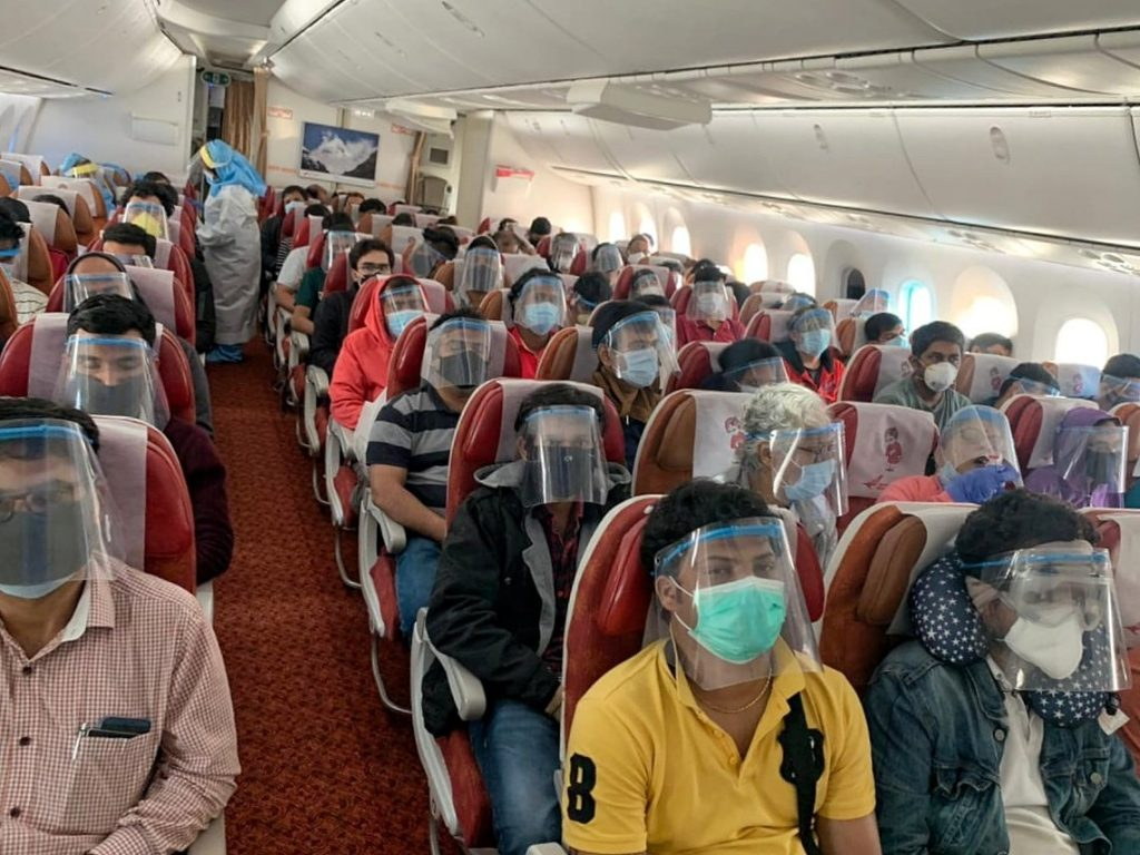 6037 Indians return from abroad in 31 flights