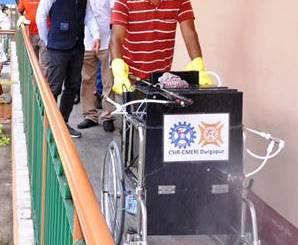 Scientists develop mobile indoor disinfection sprayer