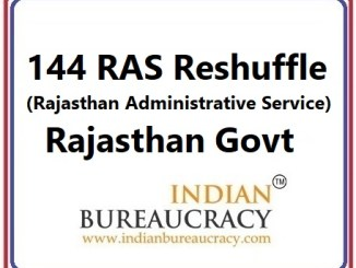144 RAS Transfer in Rajasthan Govt