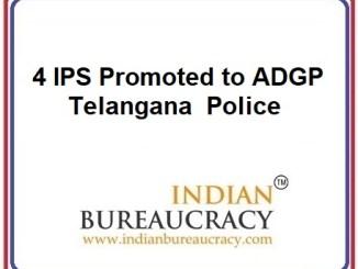 4 IPS Promoted to Telangana Police4 IPS Promoted to Telangana Police