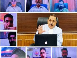 Jitendra Singh holds a video conference meeting to discuss COVID prevention measures