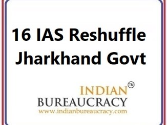16 IAS Transfer in Jharkhand Govt