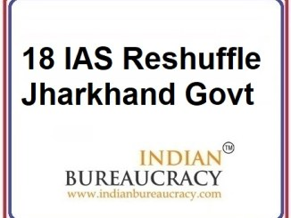 18 IAS Transfer in Jharkhand Govt
