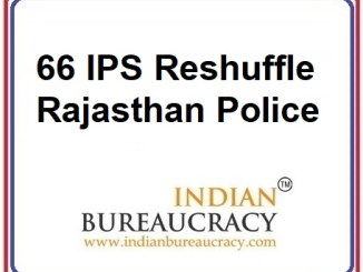 66 IPS Transfer in Rajasthan Police