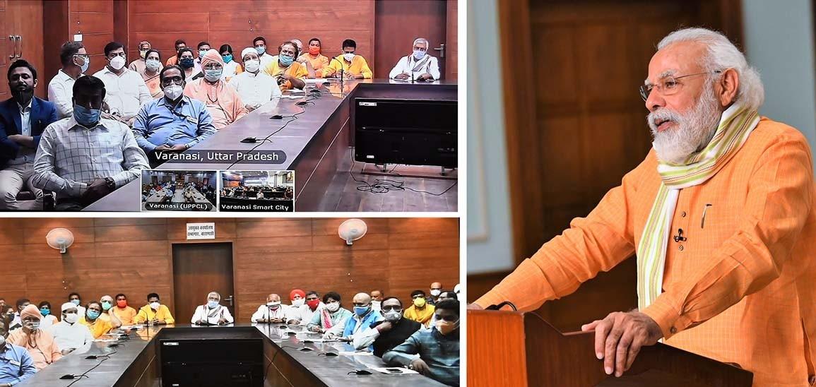 PM Modi interacts with representatives from Varanasi