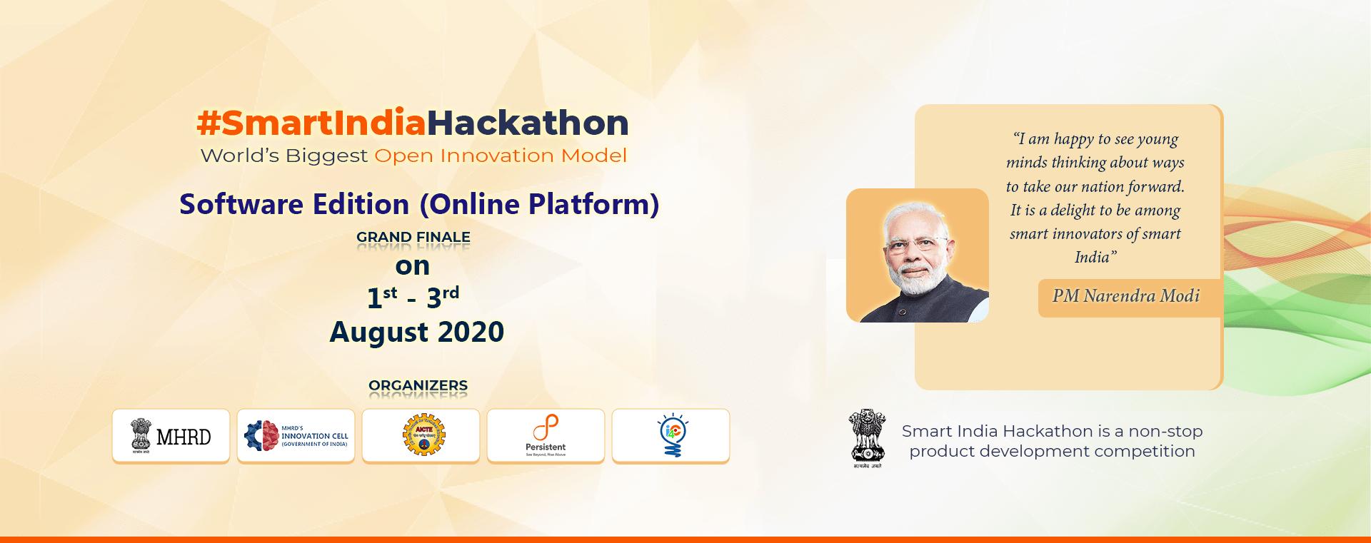 The Grand Finale of Smart India Hackathon 2020 begins