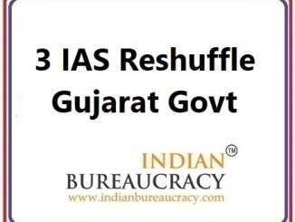 3 IAS Transfer in Gujarat Govt