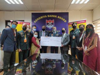 CGM, Vivek Jha presented donation cheque