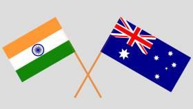 India - Australia Flag