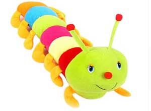Kashish Toys Multicolor Caterpillar Soft Toy