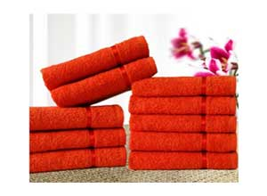 Story@Home Solid 10 Piece 450 GSM Cotton Face Towel Set