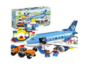 Toys BhoomiHappy City Airport Block Building Set