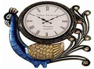 RoyalsCart Village Clockworks Peacock Analog Wall Clock