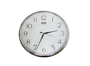 Ajanta Quartz Silver Ring Plastic Wall Clock