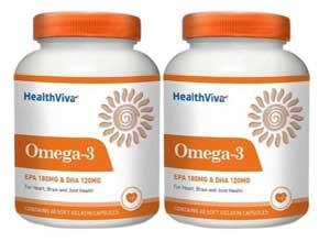 HealthViva Omega 3 Pack of 2