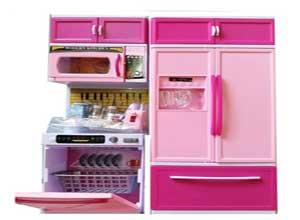 Elektra Pink Kitchen Set with Refrigerator