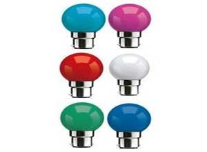 Syska Multi Color LED Bulb Pack of 6